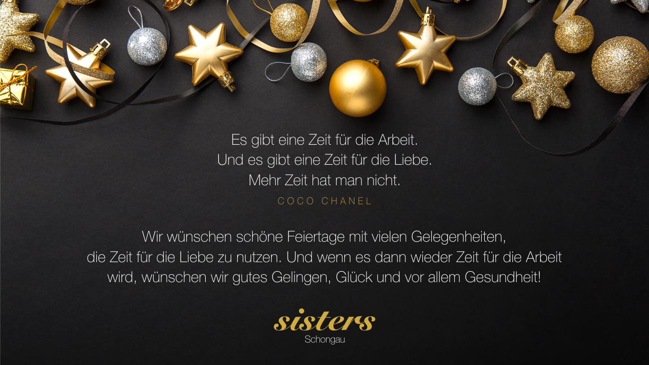 sisters-Weihnachtsgruß 2018